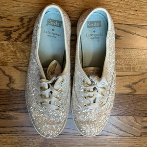 Kate Spade sparkle sneakers